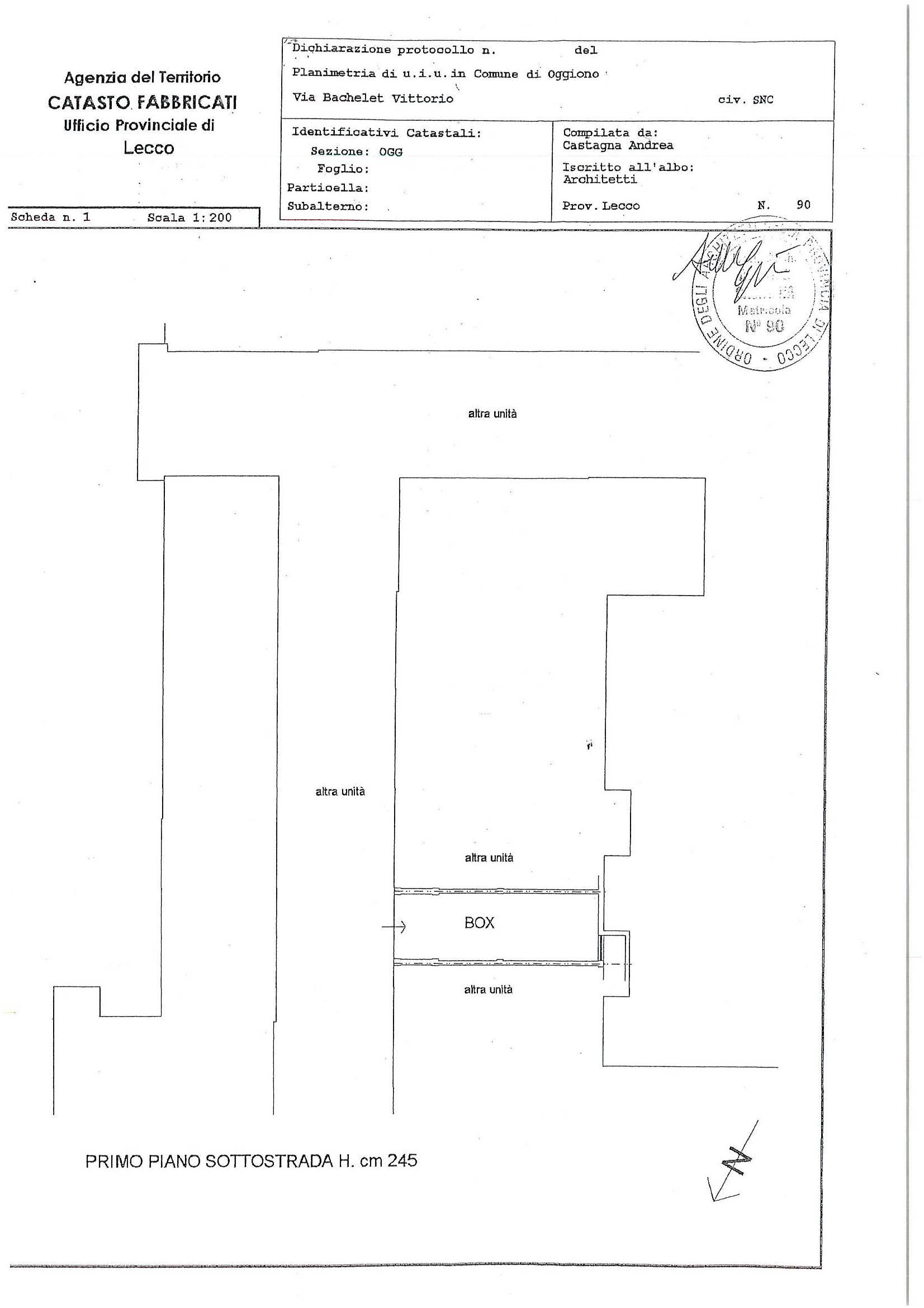Planimetria autorimessa